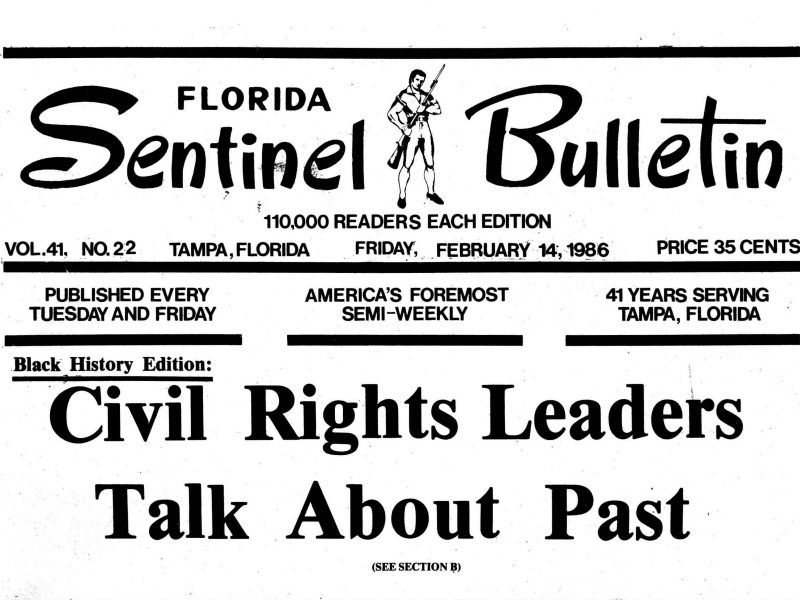 Cover of the Florida Sentinel Bulletin newspaper