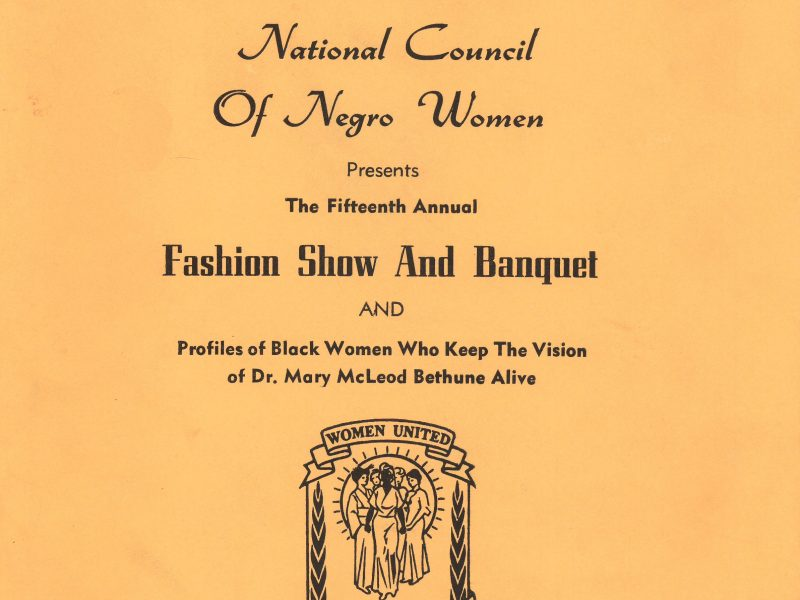 Banquet brochure from the DuPree Press Collection