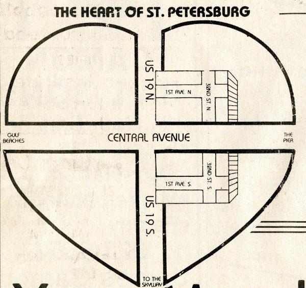 Heart of St. Petersburg Map