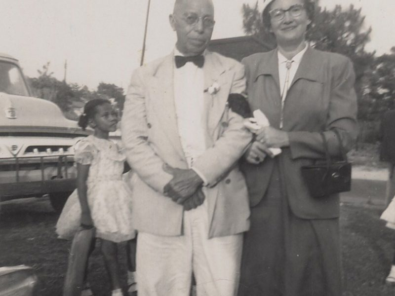 Image of Ruth Perry and unnamed gentleman